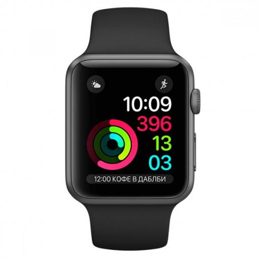 Смарт-часы Apple Watch S1 Sport 38mm Sp.Grey Al/Black